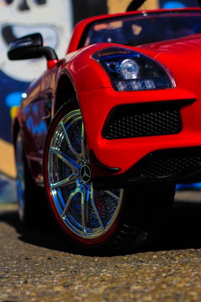 Masinuta electrica Mercedes SLS STANDARD 2x 25W 12V # Rosu 12