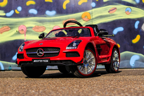 Masinuta electrica Mercedes SLS STANDARD 2x 25W 12V # Rosu 2