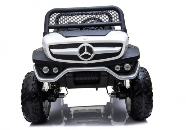 Masinuta electrica Mercedes UNIMOG 4x4 PREMIUM #Alb 1