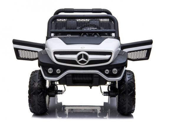 Masinuta electrica Mercedes UNIMOG 4x4 PREMIUM #Alb 5
