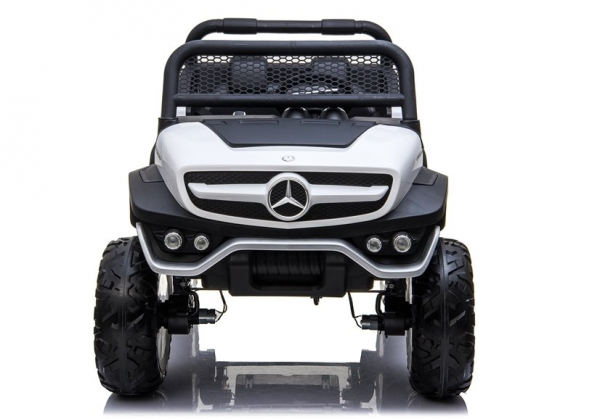 Masinuta electrica Mercedes UNIMOG 4x4 PREMIUM #Alb 7