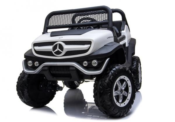 Masinuta electrica Mercedes UNIMOG 4x4 PREMIUM #Alb 4