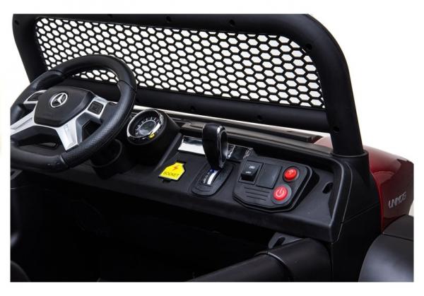Masinuta electrica Mercedes UNIMOG 4x4 PREMIUM #Alb 15