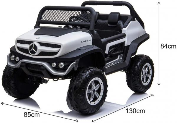 Masinuta electrica Mercedes UNIMOG 4x4 PREMIUM #Alb 17