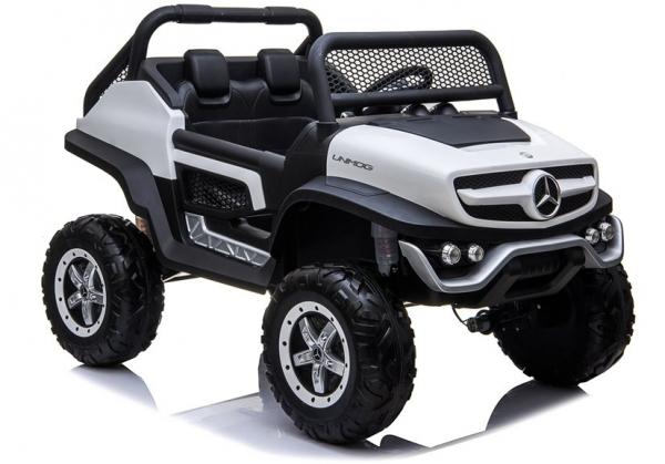 Masinuta electrica Mercedes UNIMOG 4x4 PREMIUM #Alb 8