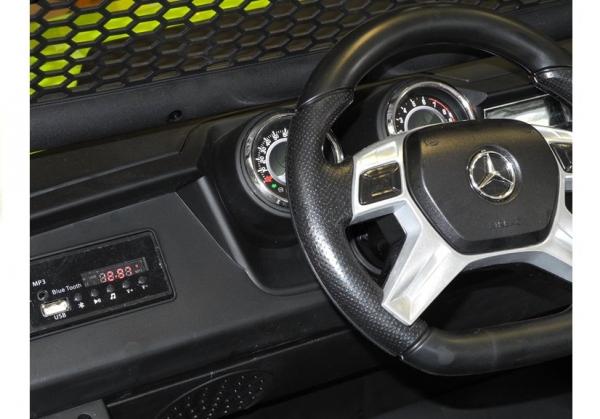 Masinuta electrica Mercedes UNIMOG 4x4 PREMIUM #Alb 13