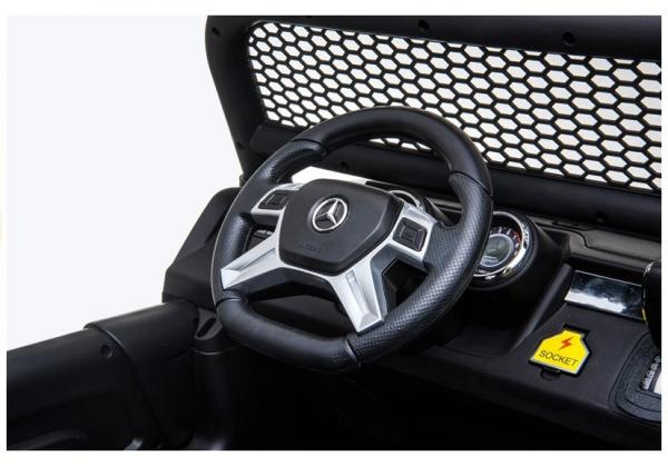 Masinuta electrica Mercedes UNIMOG 4x4 PREMIUM #Alb 12