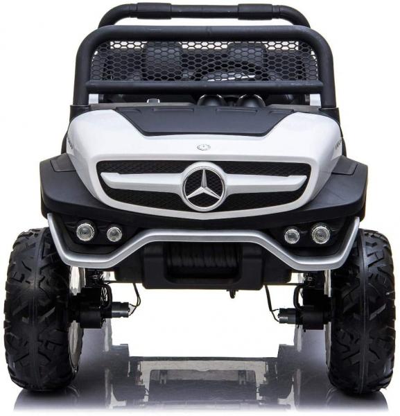 Masinuta electrica Mercedes UNIMOG 4x4 PREMIUM #Alb 0