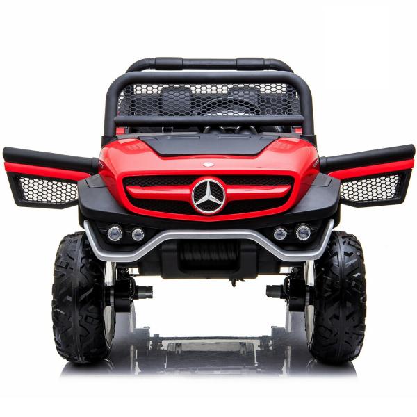 Masinuta electrica Mercedes UNIMOG 4x4 PREMIUM #Rosu 6
