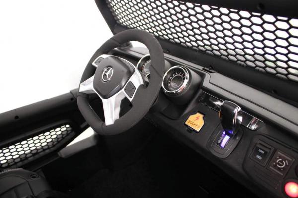 Masinuta electrica Mercedes UNIMOG 4x4 PREMIUM #Rosu 2