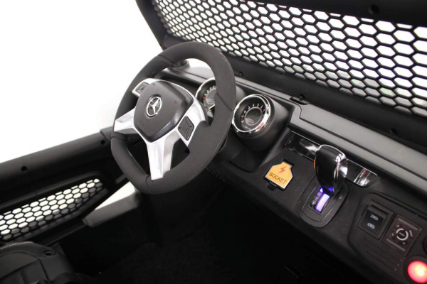 Masinuta electrica Mercedes UNIMOG 4x4 PREMIUM #Negru 8