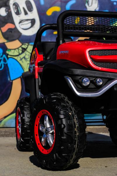 Masinuta electrica Mercedes UNIMOG STANDARD 2x45W 12V #Rosu 9
