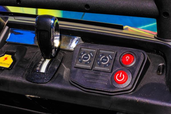 Masinuta electrica Mercedes UNIMOG STANDARD 2x45W 12V #Rosu 4