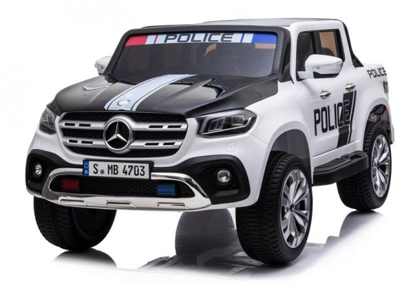 Masinuta electrica Mercedes POLICE X-Class 4x4 PREMIUM #Alb 2