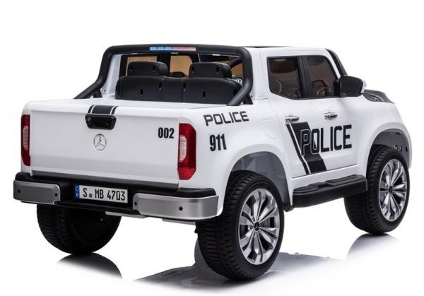 Masinuta electrica Mercedes POLICE X-Class 4x4 PREMIUM #Alb 5