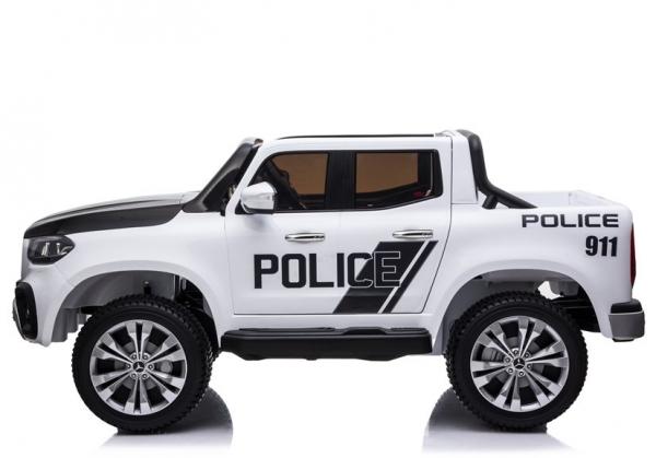 Masinuta electrica Mercedes POLICE X-Class 4x4 PREMIUM #Alb 3
