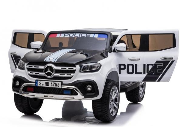Masinuta electrica Mercedes POLICE X-Class 4x4 PREMIUM #Alb 7