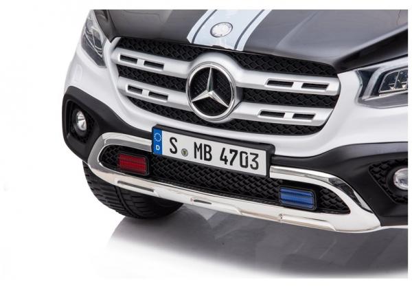 Masinuta electrica Mercedes POLICE X-Class 4x4 PREMIUM #Alb 9