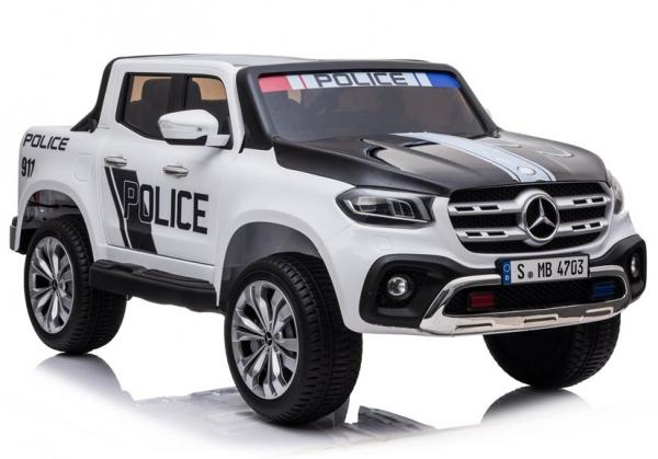 Masinuta electrica Mercedes POLICE X-Class 4x4 STANDARD #Alb 0