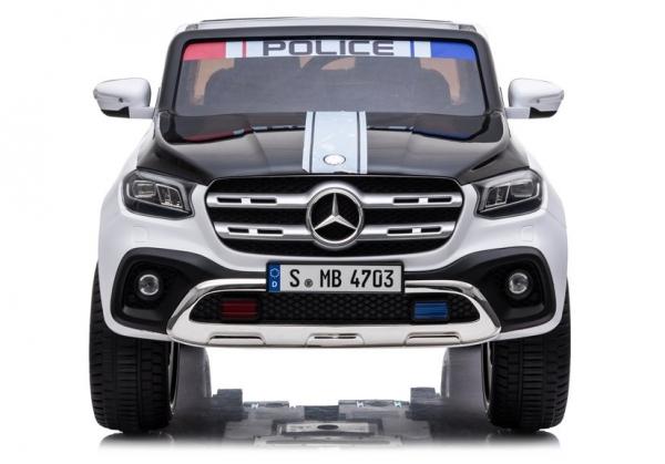 Masinuta electrica Mercedes POLICE X-Class 4x4 PREMIUM #Alb 1