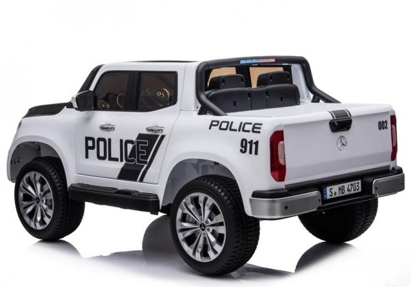 Masinuta electrica Mercedes POLICE X-Class 4x4 PREMIUM #Alb 4