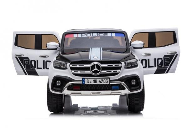 Masinuta electrica Mercedes POLICE X-Class 4x4 PREMIUM #Alb 6