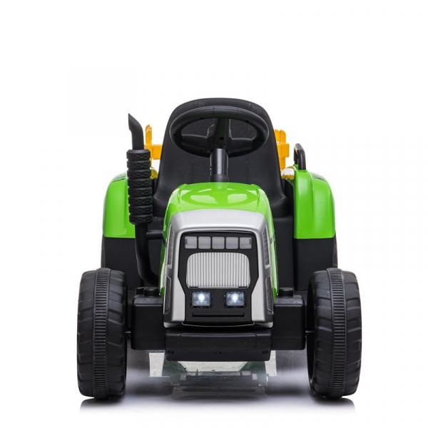 Tractoras electric BJ-611 cu remorca si telecomanda STANDARD #Verde 5
