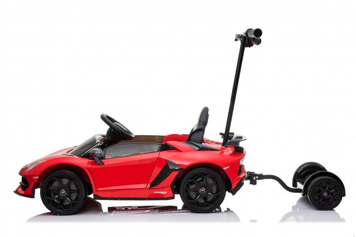 Masinuta electrica Lamborghini SVJ cu hoverboard, rosu [14]