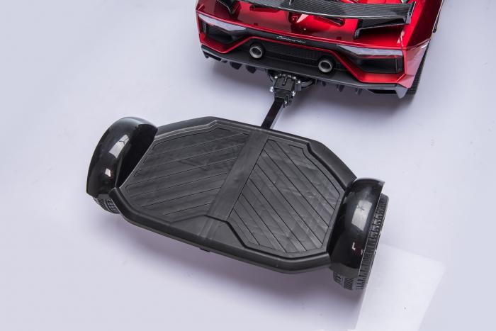 Masinuta electrica Lamborghini SVJ cu hoverboard, rosu [18]