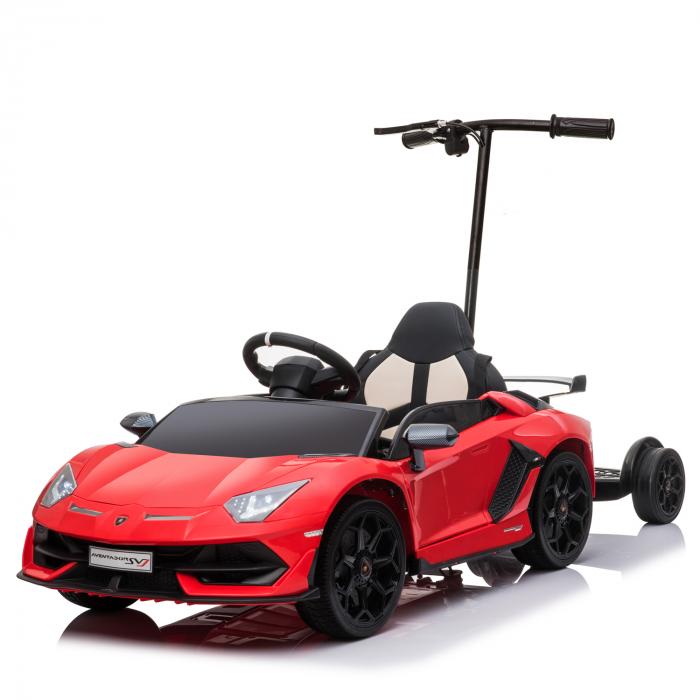 Masinuta electrica Lamborghini SVJ cu hoverboard, rosu [0]