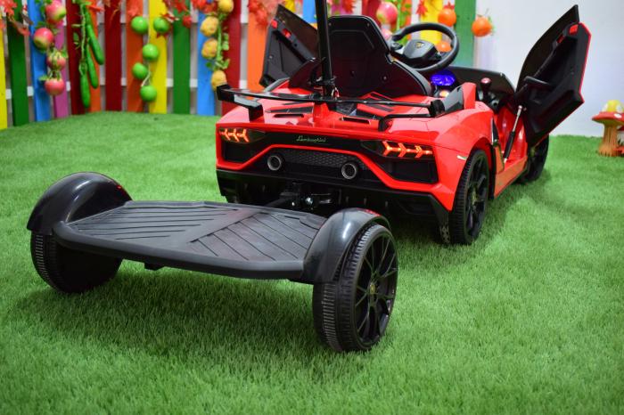 Masinuta electrica Lamborghini SVJ cu hoverboard, rosu [5]