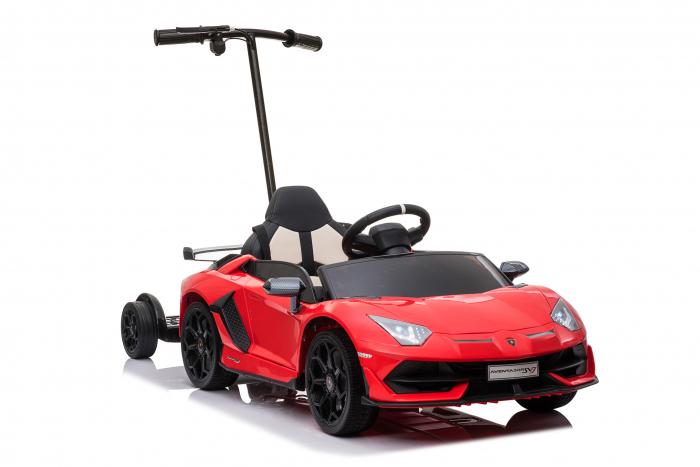 Masinuta electrica Lamborghini SVJ cu hoverboard, rosu [16]