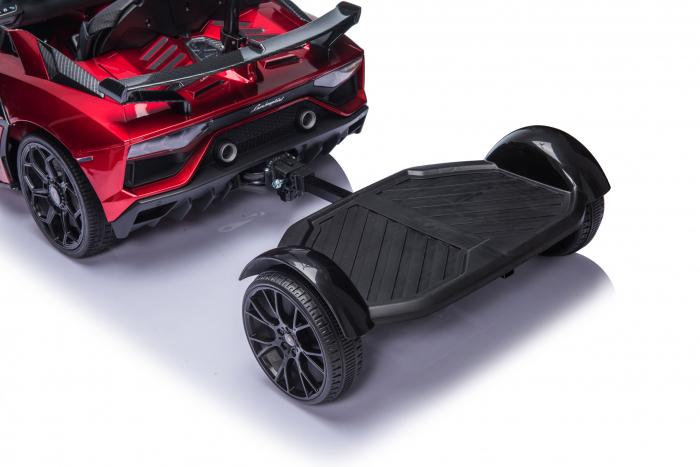 Masinuta electrica Lamborghini SVJ cu hoverboard, rosu [19]