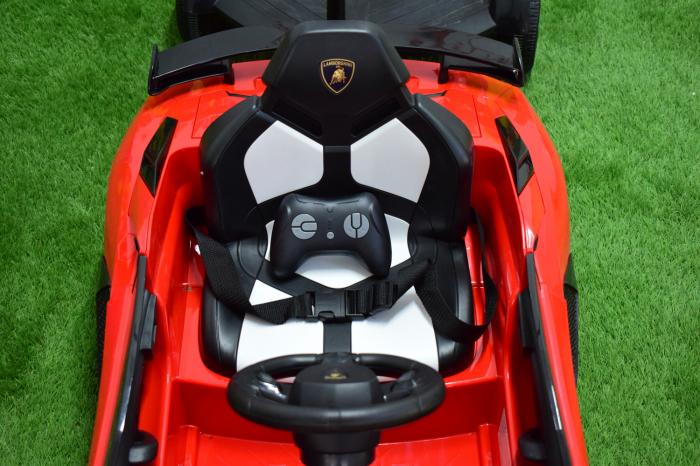 Masinuta electrica Lamborghini SVJ cu hoverboard, rosu [3]