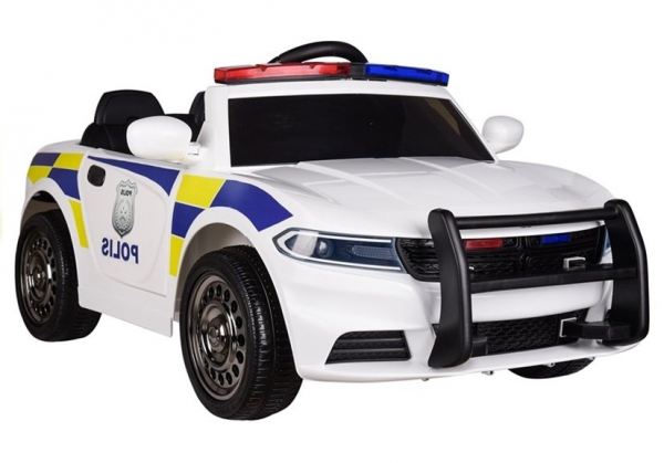 Masinuta electrica POLICE JC666 12V PREMIUM #Alb 3