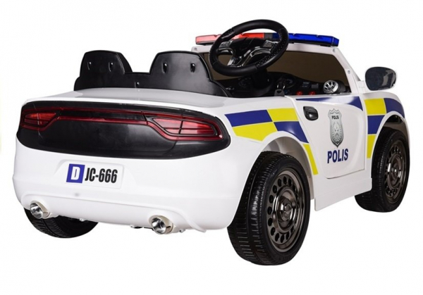 Masinuta electrica POLICE JC666 12V PREMIUM #Alb 5