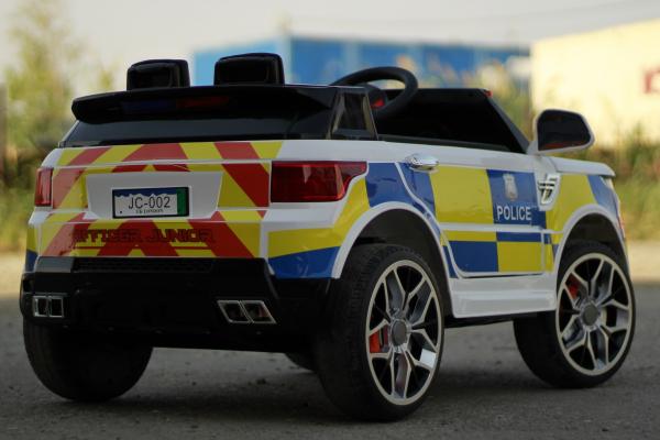 Masinuta electrica POLICE JC002 90W 12V PREMIUM #Alb [10]