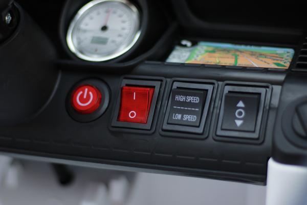 Masinuta electrica POLICE JC002 90W 12V PREMIUM #Alb [6]