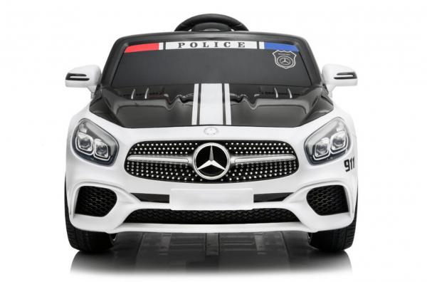 Masinuta electrica de politie Mercedes SL500 90W STANDARD #Alb 6