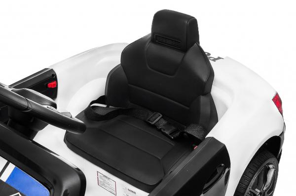 Masinuta electrica de politie Mercedes SL500 90W STANDARD #Alb 3