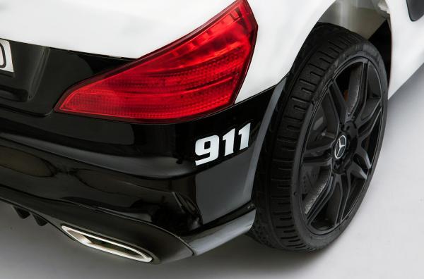 Masinuta electrica de politie Mercedes SL500 90W STANDARD #Alb 7