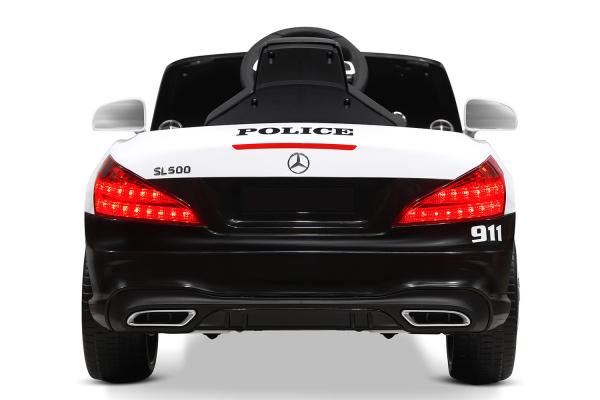 Masinuta electrica de politie Mercedes SL500 90W STANDARD #Alb 8