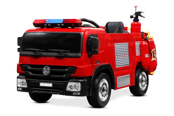 Masinuta electrica Pompieri Fire Truck Hollicy 90W 12V PREMIUM #Rosu [0]