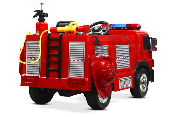 Masinuta electrica Pompieri Fire Truck Hollicy 90W 12V PREMIUM #Rosu [4]