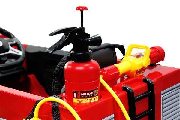 Masinuta electrica Pompieri Fire Truck Hollicy 90W 12V PREMIUM #Rosu [10]