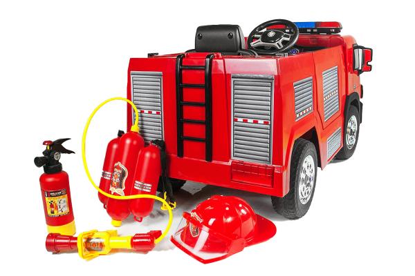 Masinuta electrica Pompieri Fire Truck Hollicy 90W 12V PREMIUM #Rosu [7]