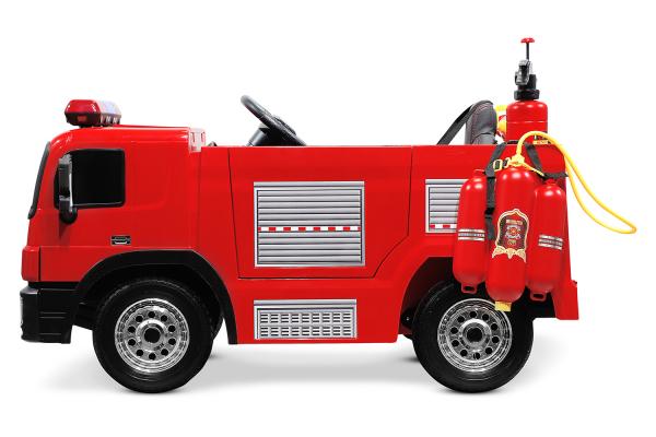 Masinuta electrica Pompieri Fire Truck Hollicy 90W 12V PREMIUM #Rosu [6]