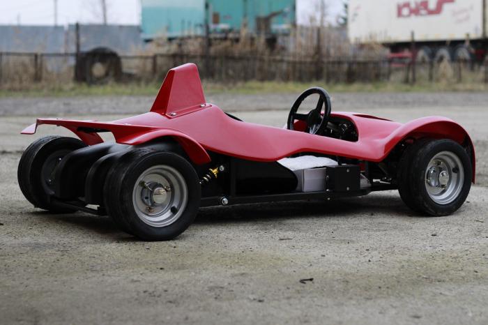 Masinuta electrica RAZER GT 48V 1000W cu 2 viteze #Rosu 4