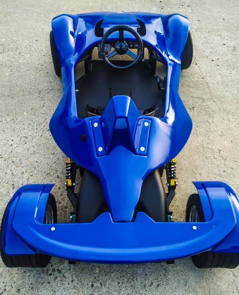 Masinuta electrica RAZER GT 48V 1000W cu 3 viteze #Albastru 5