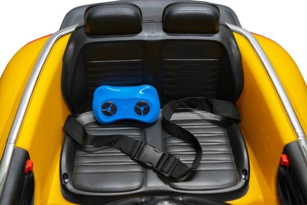 Masinuta electrica VW Beetle Dune Cabrio STANDARD #Galben 10